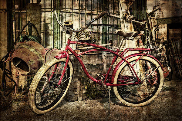 Debra and Dave Vanderlaan - Red Bike Print