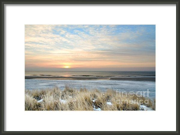 Chris Costa - Winter Beach Sunrise Print