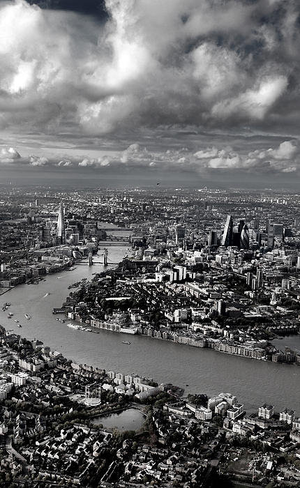 Mark Rogan - Aerial view of London 4 Print