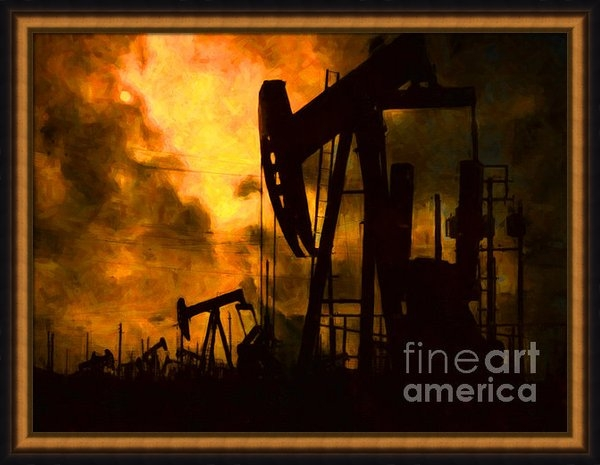 Wingsdomain Art and Photography - Oil Pumps Print