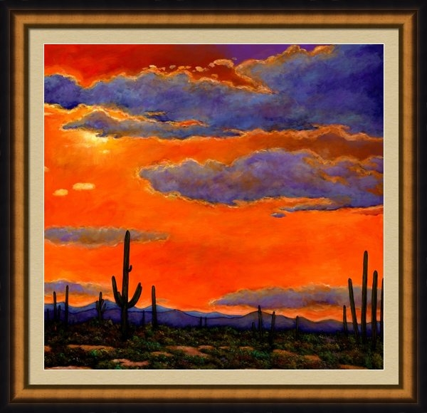 Johnathan Harris - Saguaro Sunset Print
