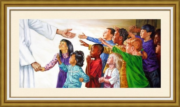 John Lautermilch - Children Coming to Jesus Print