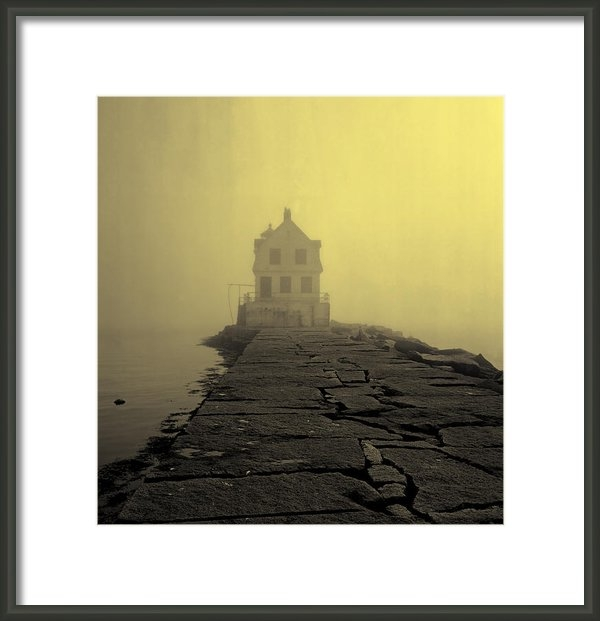 Mountain Dreams - Fog over Rockland Harbor ... Print