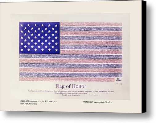 Angela A Stanton - Flag of Honor 9-11 Memori... Print