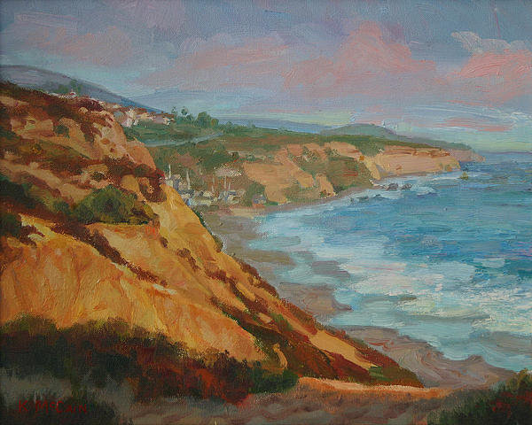 Kevin  McCain - Laguna Beach at Sunset Print