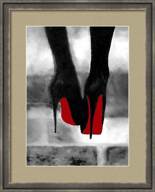 Rebecca Jenkins - Louboutin At Midnight Bla... Print