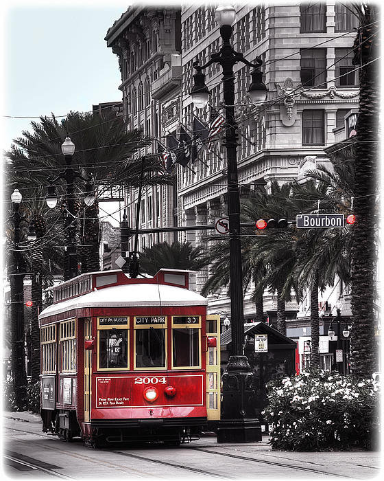Tammy Wetzel - Bourbon and Canal Trolley... Print