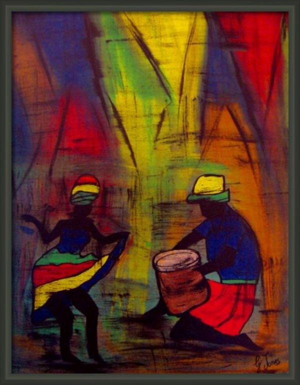 Glenda  Jones - Soca Dancing Print