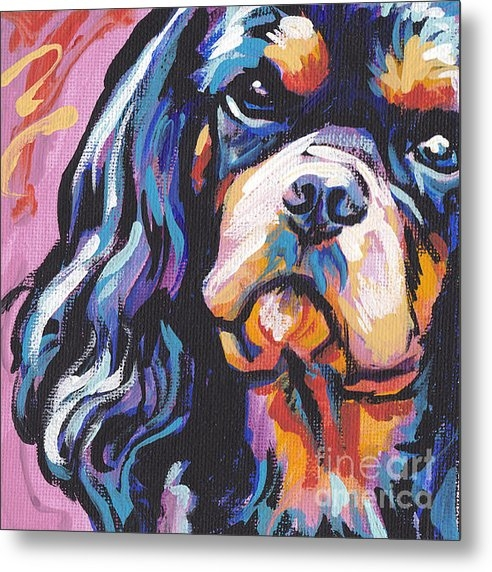 Lea  - Black and Tan Cav Print