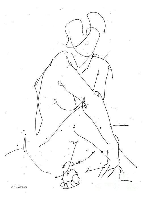 Gordon Punt - Nude-Female-Drawing-19 Print