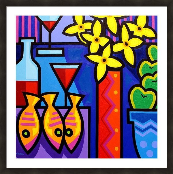 John  Nolan - Still Life With 3 Fish  Print