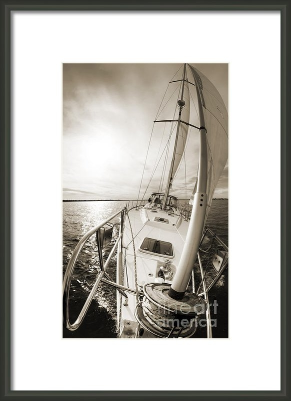 Dustin K Ryan - Sailing on a Beneteau 49 ... Print