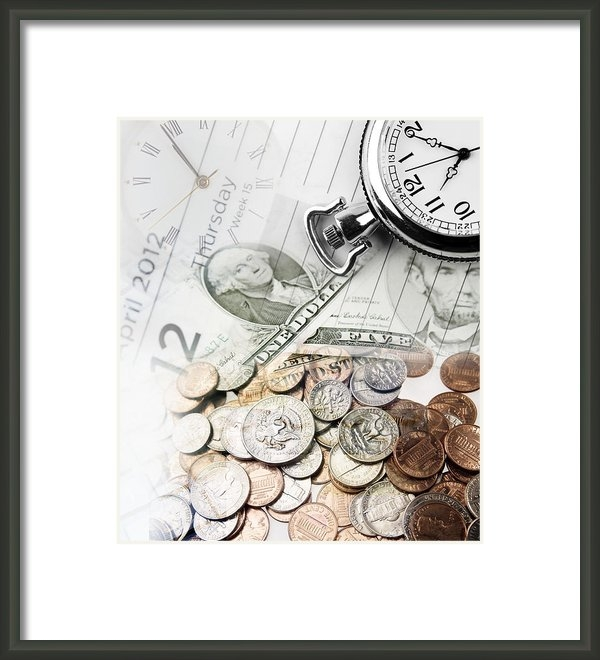 Les Cunliffe - Time is money concept Print