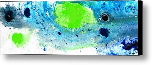 Sharon Cummings - Green Blue Art - Making W... Print