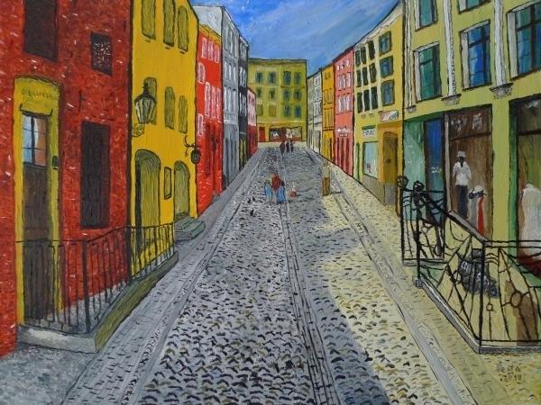 Peter Pesta - Szczytna street in Torun ... Print