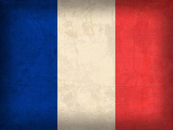Design Turnpike - France Flag Distressed Vi... Print