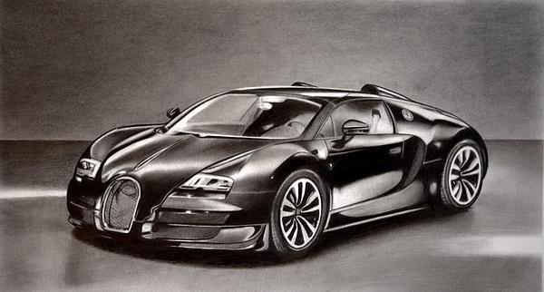 Darryl Linquist - Bugatti Veyron Print