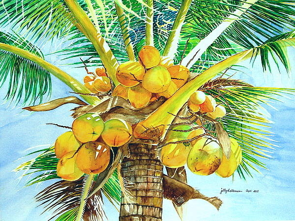 Jelly Starnes - Coconut Tree Part 2 Print