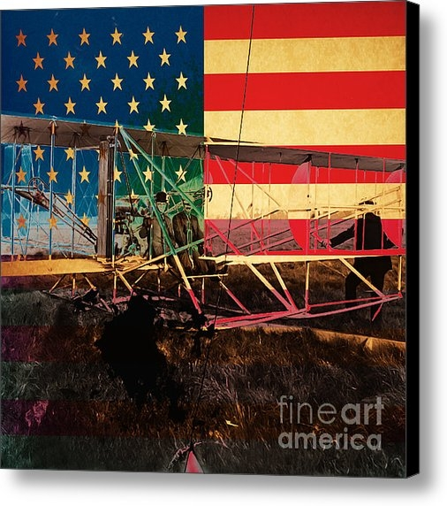 Wingsdomain Art and Photography - The Wright Bothers an Ame... Print