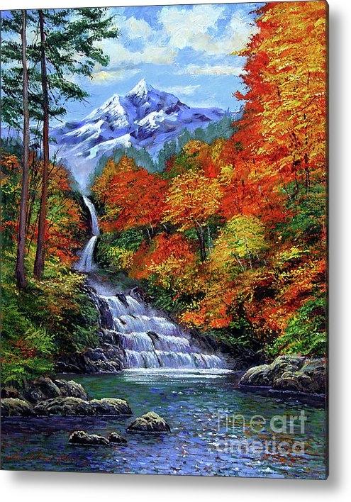 David Lloyd Glover - Deep Falls in Autumn Print