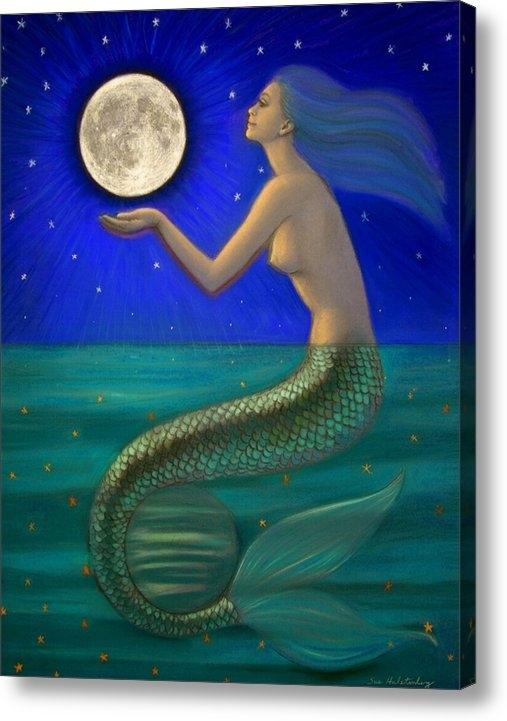 Sue Halstenberg - Full Moon Mermaid Print