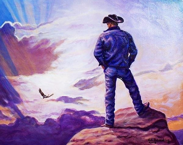 Ed Breeding - Soaring With Eagles Print