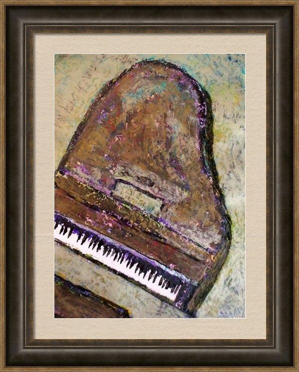 Anita Burgermeister - Piano in Bronze Print
