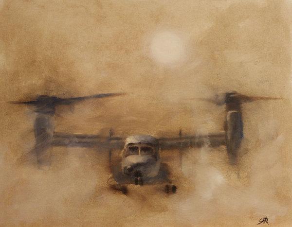 Stephen Roberson - Kicking Sand Print