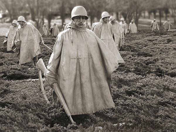 Mike McGlothlen - Korean War Memorial - Was... Print