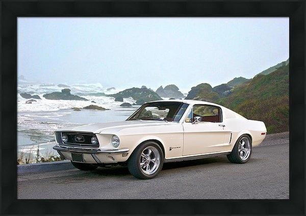 Dave Koontz - 1968 Ford Mustang Fastbac... Print