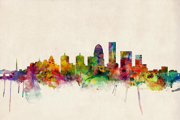 Michael Tompsett - Louisville Kentucky City ... Print