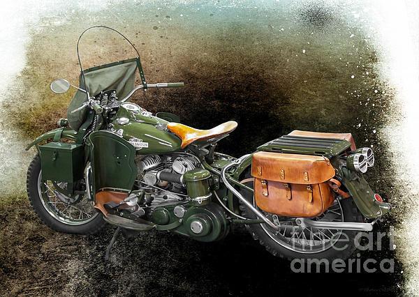 Barbara McMahon - Harley Davidson 1942 Expe... Print