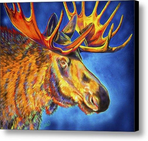 TeshiaArt - Moose Blues Print