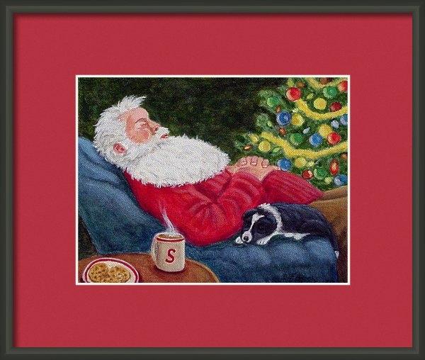 Fran Brooks - Santa and Breagh Print