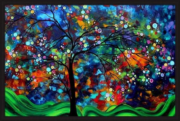 Megan Duncanson - Abstract Art Original Lan... Print