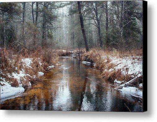 Larry McGahey - Delta Creek in Winter Print