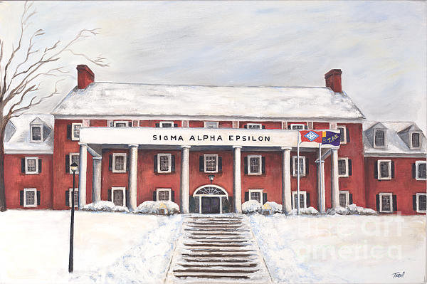 Tansill Stough - SAE Fraternity House at U... Print