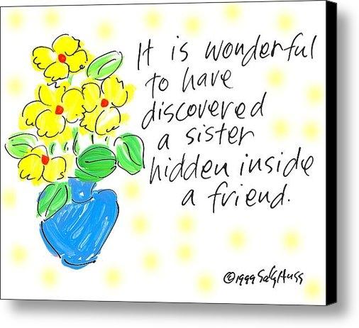 Sally Huss - Hidden Sister Print