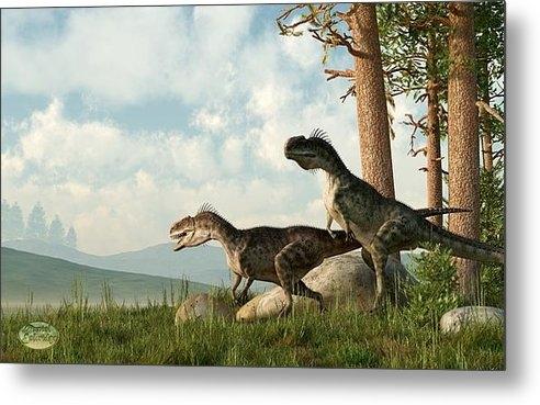 Daniel Eskridge - Monolophosaurs on the Hun... Print