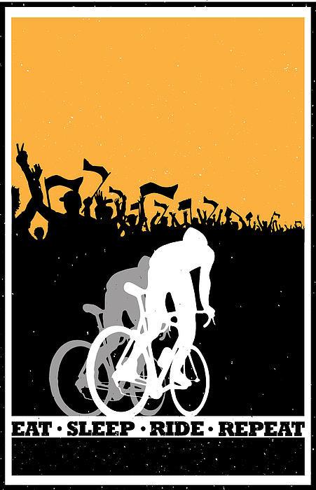 Sassan Filsoof - Eat Sleep Ride Repeat Print