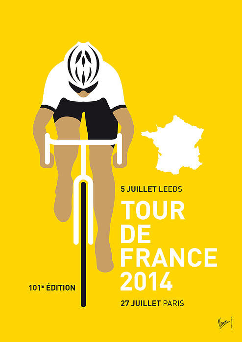 Chungkong Art - My Tour De France Minimal... Print