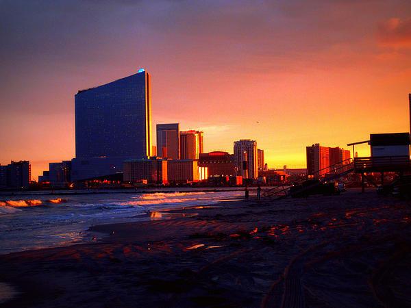 Mary McCusker - Atlantic City Sunset Print
