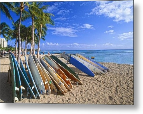 George Oze - Colorful Surfboards on Wa... Print