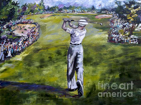Ginette Callaway - Ben Hogan Golf Painting Print