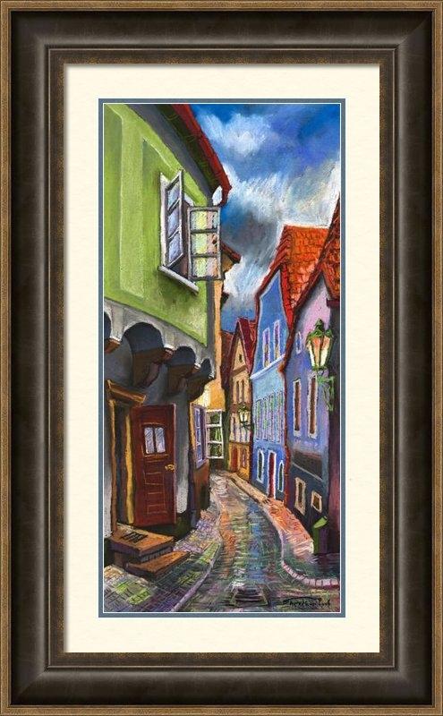 Yuriy  Shevchuk - Cesky Krumlov Old Street ... Print