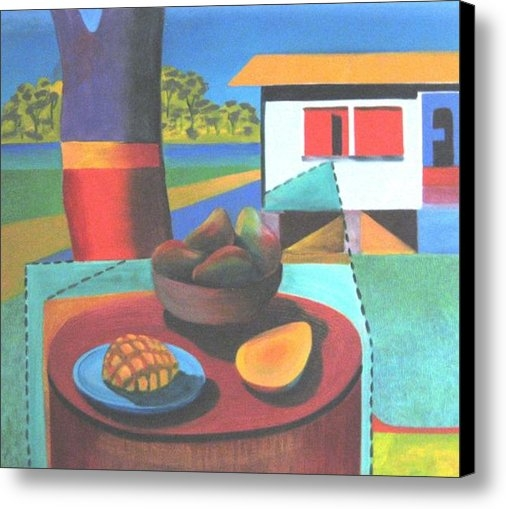Ky Wilms - Still life with mangoes Print