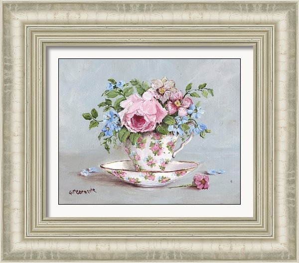 Gail McCormack - Blooms in a Tea Cup Print