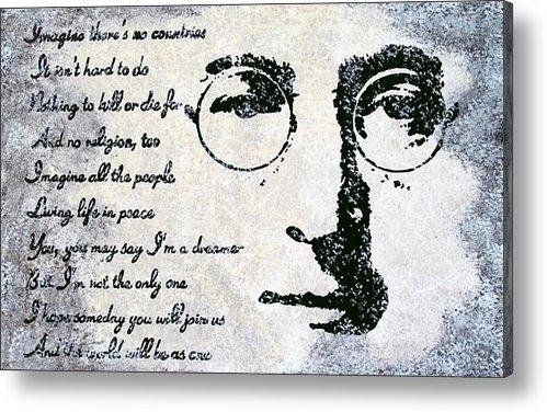 Bryan Dubreuiel - Imagine-John Lennon Print