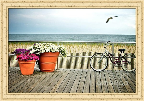 Melissa Ross - Bicycle on the Ocean City... Print