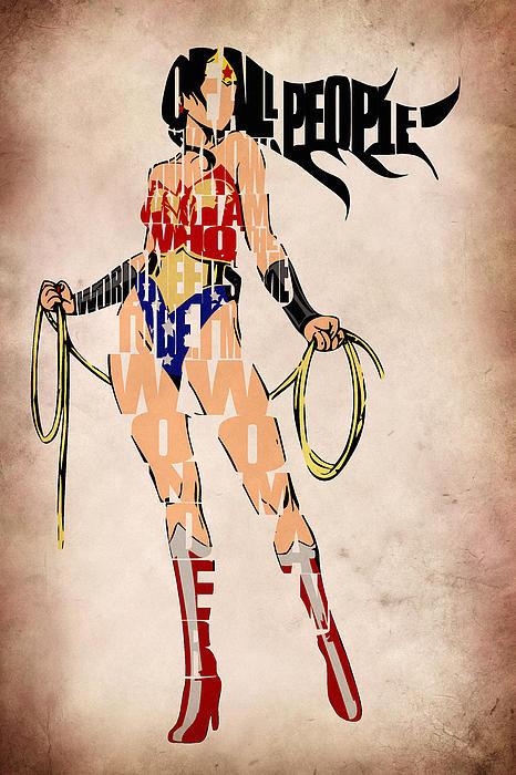 Ayse Deniz - Wonder Woman Print